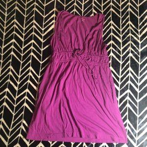 Lands end purple sleeveless dress